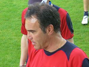 Martín Lasarte - Lasarte in training with Real Sociedad