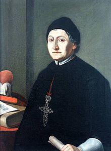 Abt Martin Gerbert mit Pektorale, Gemälde im Refektorium des ehemaligen Benediktinerpriorats Oberried (Quelle: Wikimedia)