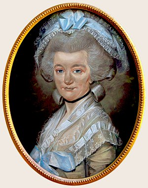 Mary Hardy (diarist) - Hardy in 1785 aged 51, by Huquier (Cozens-Hardy Collection)