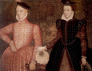English: Mary, Queen of Scots, and her second ...
