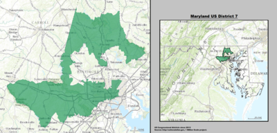 Maryland's 7th congressional district - since January 3, 2013.