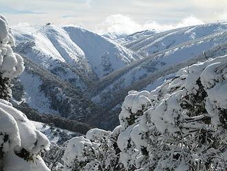 Tourism in Australia - Ski ranges on Mount Hotham, located in Victoria