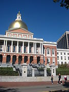 Massachusetts State House, front exterior