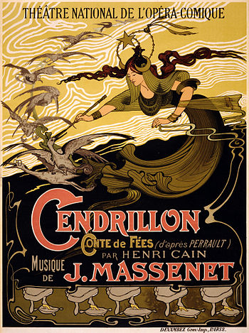 "English: The poster for the opera ""Cendri..."