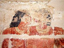 Khnumhotep e Niankhkhnum, si ritiene che essi rappresentino la prima attestazione storica di un'unione omosessuale (circa 2400 a.C.)