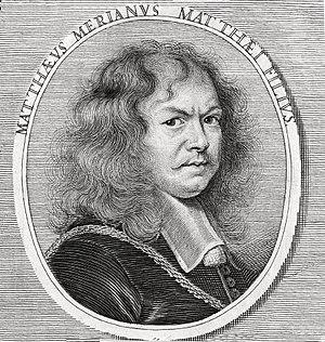 Matthäus Merian the Younger - Portrait by Joachim von Sandrart for his Teutsche Academie