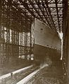Mauretania sliding down the slipway (28081375603).jpg