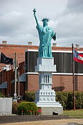 Statue in McRae, - 1/12 size replica of the Statue of Liberty