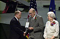 Medal of Honor presented to William H. Pitsenbarger's parents 2000-12-08.jpg