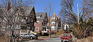 Hillside Avenue Historic District (Medford, Massachusetts) - A view of Hillside Avenue