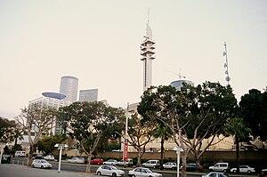HaKirya - Marganit Tower, one of the tallest structures in Tel Aviv and an old landmark of the Kirya