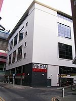 Amaskomunikilaro Kimrio, Six Park Street, Cardiff 001.jpg