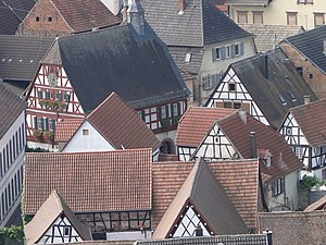 Palatinate (region) - Medieval frame houses in a Palatinate village. (Ilbesheim, South Palatinate)
