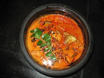 English: Fish Curry prepared in Kerala style. ...