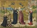 Meister des Marienlebens - Marienleben, Heimsuchung Mariae und der Stifter Johann von Hirtz - WAF 623 - Bavarian State Painting Collections.jpg