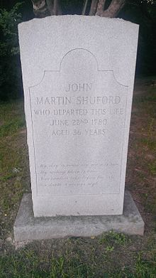 Memorial to Loyalist John Martin Shuford at Ramsour's Mill.jpg