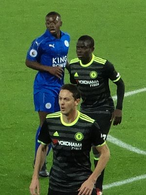 Nampalys Mendy - Mendy (left) playing for Leicester City in January 2017