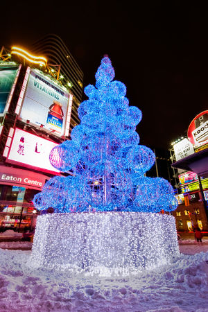 Christmas tree at Yonge-Dundas Square, Toronto...
