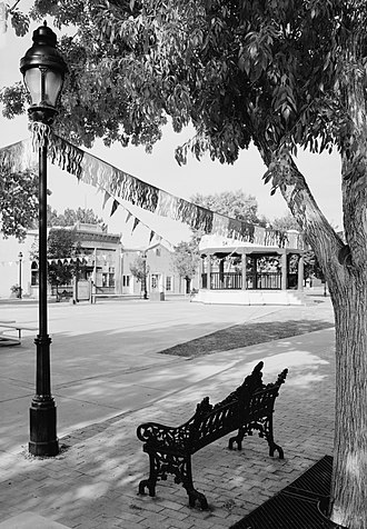 Mesilla, New Mexico - Mesilla Plaza, looking northwest, 2005