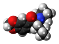 Methylenedioxypyrovalerone molecule spacefill.png