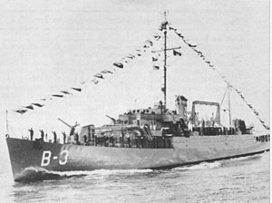 Mexican frigate ARM California (B-3) underway at sea on 2 April 1970