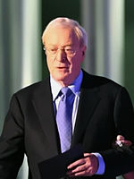 Photo o Michael Caine attendin the Nobel Peace Prize Concert in 2008.