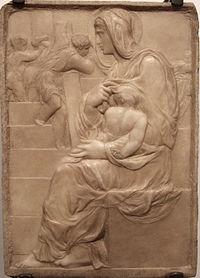 Michelangelo, madonna della scala, 1491 ca, 01.JPG
