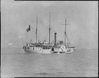 Upper Peninsula miners' strike of 1865 - Image: Michigan, starboard stern quarter, underway, 1844 1905 NARA 512964
