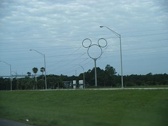 Hidden Mickey - A Hidden Mickey on an electric transmission tower in Celebration, Florida.