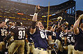Midshipmen celebrate 2004 Emerald Bowl win 041230-N-9693M-876.jpg