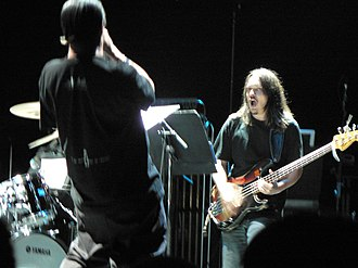 John Zorn - Moonchild at the Barbican: Mike Patton (facing away) and Trevor Dunn