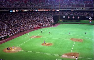 Mike Schmidt - Schmidt homers against the Reds on July 20, 1987, at the Vet