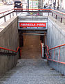 Milano staz metropolitana Amendola scala.JPG