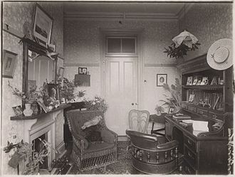 Mildred May Gostling - A picture of the study used by Mildred May Gostling while attending Royal Holloway College