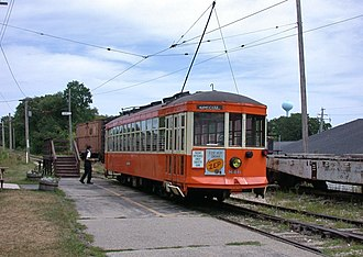 The Milwaukee Electric Railway and Light Company - Preserved 1920-vintage Milwaukee streetcar 846 at the East Troy Electric Railroad