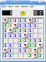Minesweeper implementation that uses a smiley to reflect the status of the current game.