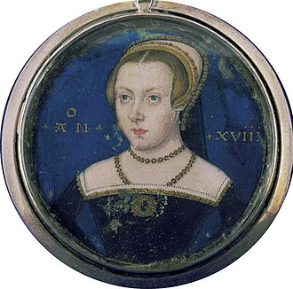 Lady Jane Grey - Miniature portrait of a young lady thought by David Starkey to probably depict Lady Jane Grey.