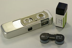 Minox - Minox IIIs camera with a cartridge of film