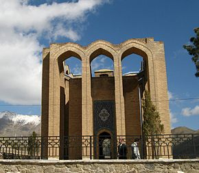 The Mir Razi (Razi-al-din e artimani) mausoleum in Tuyserkan