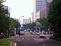 Miyagino-dori avenue viewed from the rotary of Sendai station east exit.JPG