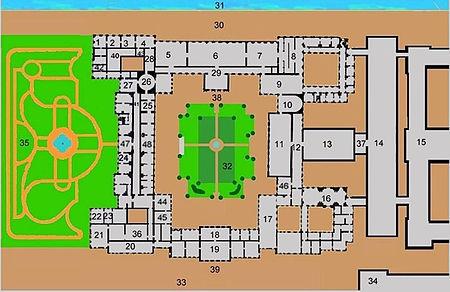 Схема 2-го этажа Зимнего