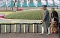 Mohd. Hamid Ansari performing parikrama at the Samadhi of the former Prime Minister, Pandit Jawaharlal Nehru on his 123rd birth anniversary, at Shantivan, in Delhi. The Chief Minister of Delhi.jpg