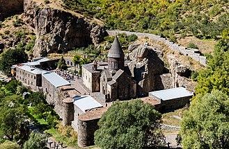 Conical roof - Image: Monasterio de Geghard, Armenia, 2016 10 02, DD 63