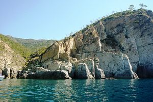 Moneglia - The rocky coast of Moneglia