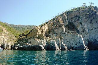 Moneglia - The rocky coast of Moneglia