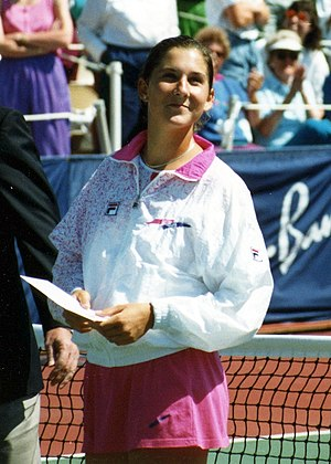 Monica Seles - Monica Seles at the 1992 Canadian Open, after losing in the final to Arantxa Sánchez Vicario