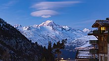 Mont Blanc from Les Arcs 1950.jpg