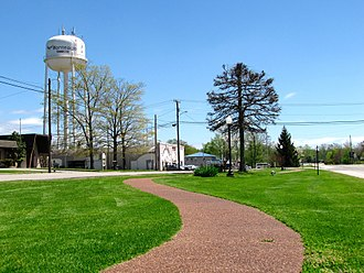 Monteagle, Tennessee - Greenway and water tower in Monteagle