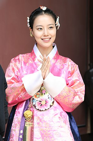 Sageuk - Moon Chae-won in costume for melodrama sageuk The Princess' Man (2011)