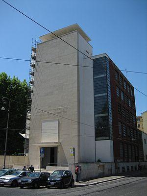Luigi Moretti - Gioventù Italiana del Littorio (GIL, fascist youth organization) building in Trastevere, Rome, one of the firsts Moretti's notable works